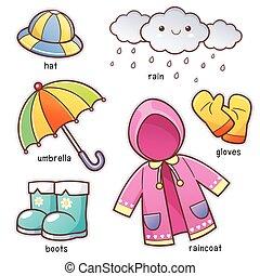 βροχή , ρούχα