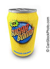 βόμβα , ζάχαρη άχνη