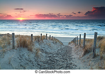 βόρεια , άμμοs , ηλιοβασίλεμα , θάλασσα , ατραπός , παραλία , πριν
