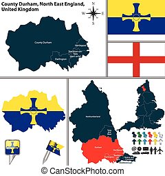βόρεια , αγγλία , κομητεία , durham , uk , ανατολή
