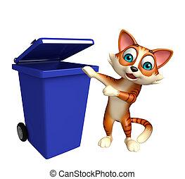 γάτα , γελοιογραφία , χαρακτήρας , σκουπιδοτενεκές