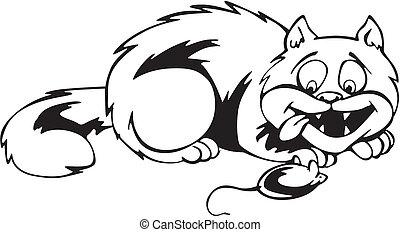 Το λίπος μαύρο μουνί γάτα
