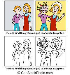 γέλιο , δώρο