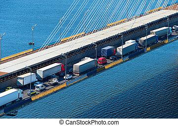γέφυρα , ανοικτή φορτάμαξα