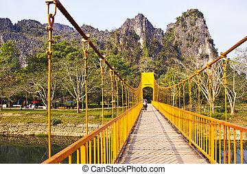 γέφυρα , απέναντι , ο , ποτάμι