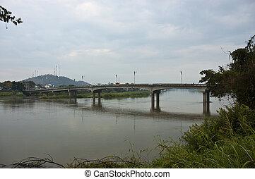 γέφυρα , απέναντι , ο , river.