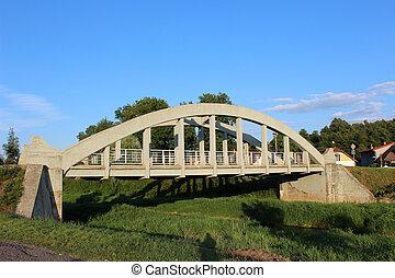 γέφυρα , από , ανεφοδιάζω , μπετό