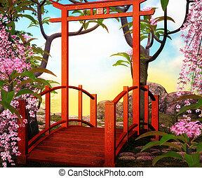 γέφυρα , ασιάτης , backdrop