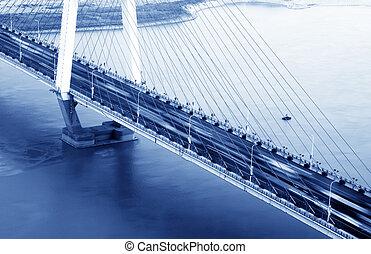 γέφυρα , βράδυ