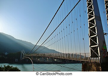γέφυρα , επάνω , ποτάμι , ganga