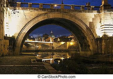 γέφυρα , μέσα , ρώμη