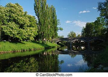 γέφυρα , μέσα , breznice