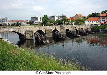 γέφυρα , μέσα , pisek