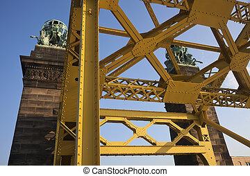 γέφυρα , μέσα , pittsburgh