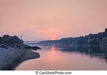γέφυρα , μέσα , rishikesh