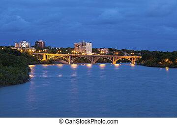 γέφυρα , μέσα , saskatoon