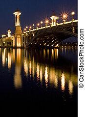 γέφυρα , νύκτα , putrajaya, σκηνή , μαλαισία
