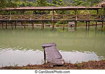 γέφυρα , ξύλο , αναδενδράδα , βόλτα
