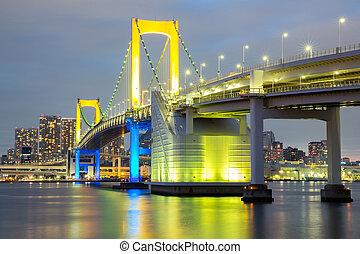 γέφυρα , ουράνιο τόξο , τόκιο
