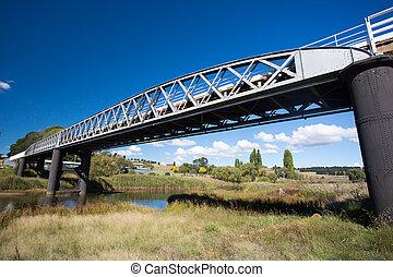 γέφυρα , πάνω , ποτάμι , dalgety, χιονάτος