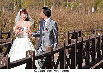γέφυρα , περίπατος , (1), πάνω , ιπποκόμος , νύμφη , ευτυχισμένος