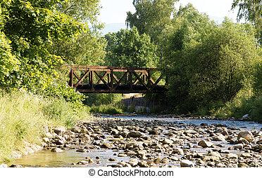 γέφυρα , ρυάκι