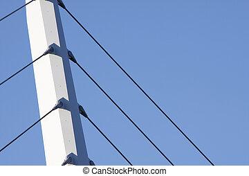γέφυρα , υποστηρίζω , εναντίον , ένα , γαλάζιος ουρανός