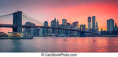 γέφυρα , brooklyn , είδος κοκτέιλ , λυκόφως