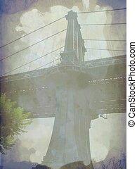 γέφυρα , grunge , λεπτομέρεια , είδος κοκτέιλ