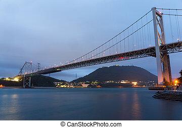 γέφυρα , kanmon, νύκτα