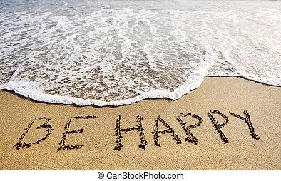 γίνομαι , γενική ιδέα , σκεπτόμενος , sand-positive, γραμμένος , λόγια , παραλία , ευτυχισμένος