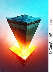 γαία αφαιρώ τον πυρήνα , δομή , αντιπροσωπευτικό δείγμα