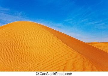 γαλάζιος ουρανός , άμμοs , εγκαταλείπω , lanscape , barchan, κόκκινο