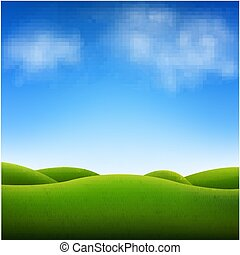 γαλάζιος ουρανός , και , τοπίο