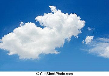 γαλάζιος ουρανός , με , σύνεφο , μέσα , καλοκαίρι