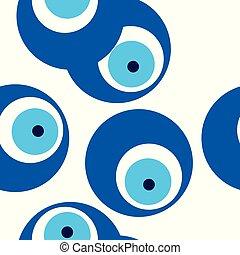 γαλάζιο άποψη , πρότυπο , seamless, κακό , μικροβιοφορέας