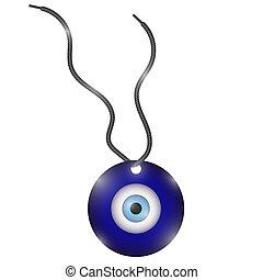 γαλάζιο άποψη , τούρκικος , amulet., σύμβολο. , nazar,...