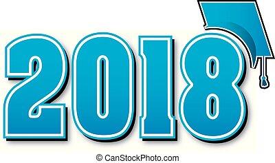 γαλάζιο αβαρής , σκούφοs , αποφοίτηση , μεγάλος , 2018
