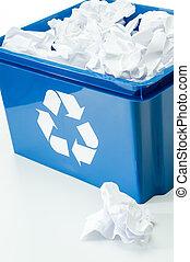 γαλάζιο αγωγή , ανακύκλωση , αξίες δοχείο , σπατάλη