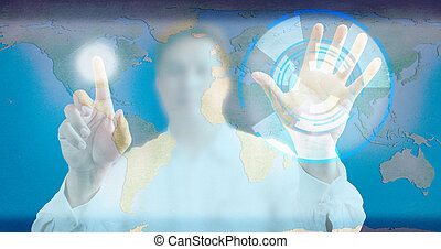 γαλάζιο αλεξήνεμο , μοντέρνος , αντίτυπο δίσκου , φόντο , άγγιγμα , τεχνολογία , άντραs