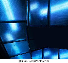 γαλάζιο βάζω τζάμια , μοντέρνος , φόντο