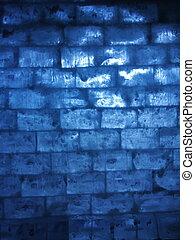 γαλάζιο γκλασάρω , τοίχοs