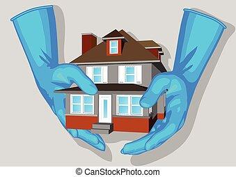γαλάζιο εμπορικός οίκος , γάντια