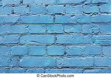 γαλάζιο εξωτερικός τοίχος οικοδομής , τούβλο