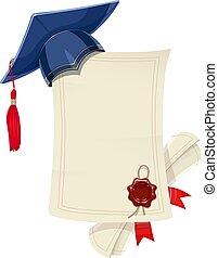 γαλάζιο καλύπτω , πτυχίο , αποφοίτηση , academicic, κενό , έγγραφος