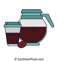 γαλάζιο καφέ άγιο δισκοπότηρο , δοχείο , πίνω , τιμωρία σε...