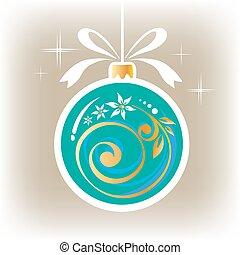 γαλάζιο μπάλα , πράσινο , xριστούγεννα , διακοσμημένος
