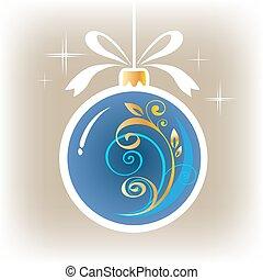 γαλάζιο μπάλα , xριστούγεννα , διακοσμημένος