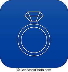 γαλάζιο μπέιζ-μπ στοιχείο καρμπονάντο , αρραβώνας , μικροβιοφορέας , δακτυλίδι , εικόνα