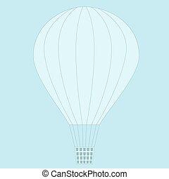 γαλάζιο μπαλόνι , ιπτάμενος , sky.